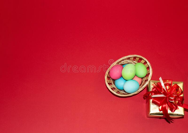 Holiday card for Easter, template, banner, copy Space.  royalty free stock photos