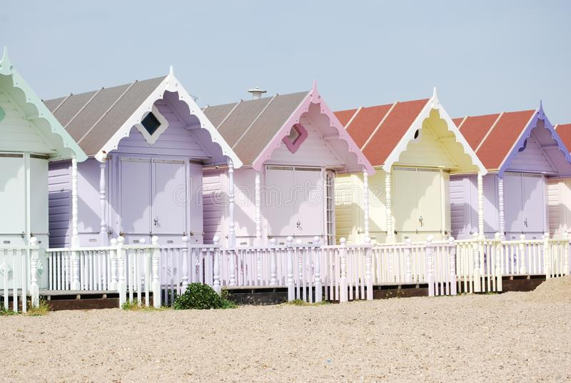 Holiday chalets on the beach royalty free stock photography