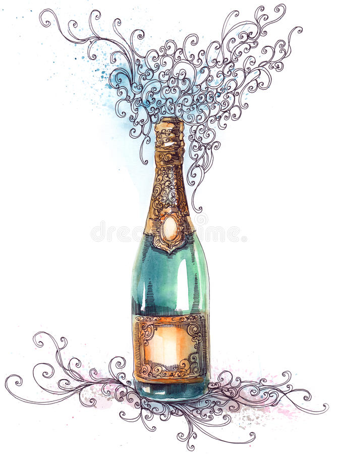 Holiday champagne stock photography