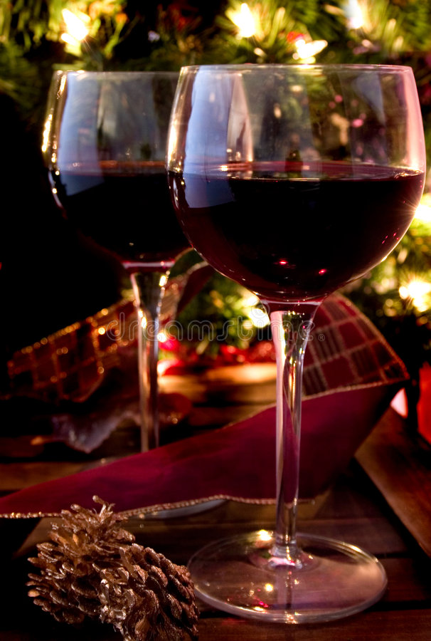 Download Holiday Cheer stock image. Image of cabernet, wine, lights - 294169