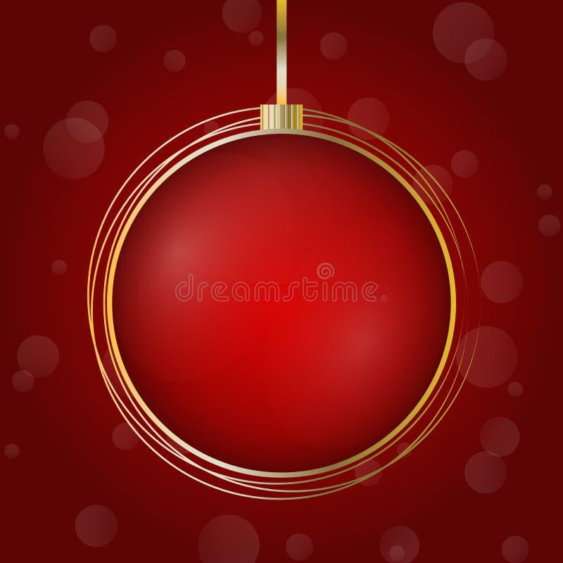 Holiday Christmas ball stock photo