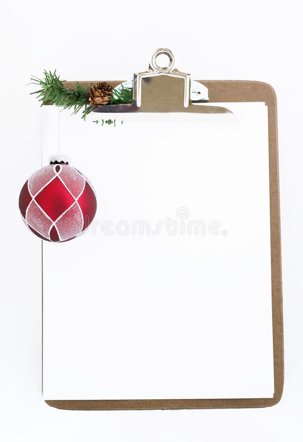Holiday Clipboard (place For Your Writing) Stock Image