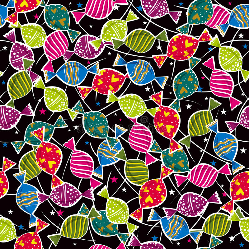Holiday color pattern with candys ,. Illustration royalty free illustration