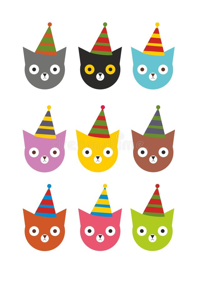 Holiday colored kittens for a party stock image