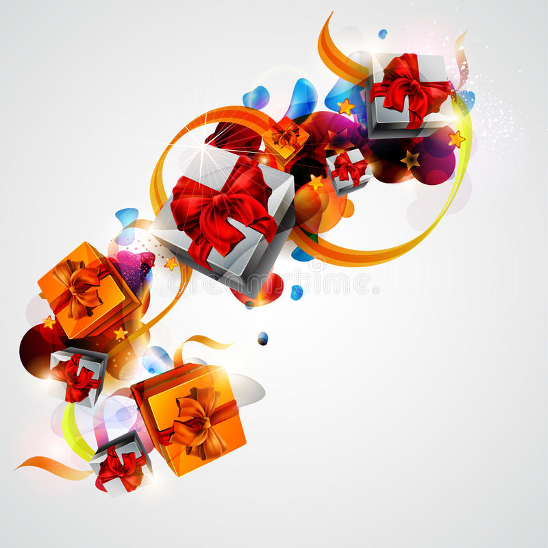 Holiday colorful gifts. royalty free illustration