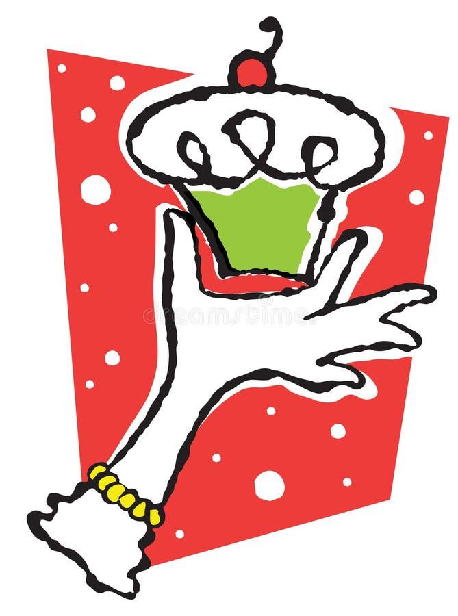 Holiday Cupcake Royalty Free Stock Image