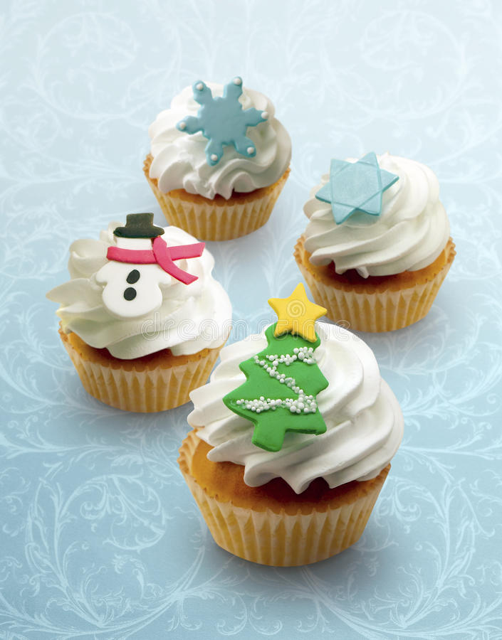 Holiday Cupcakes! Stock Image