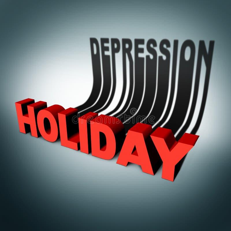 Holiday Depression Concept royalty free illustration