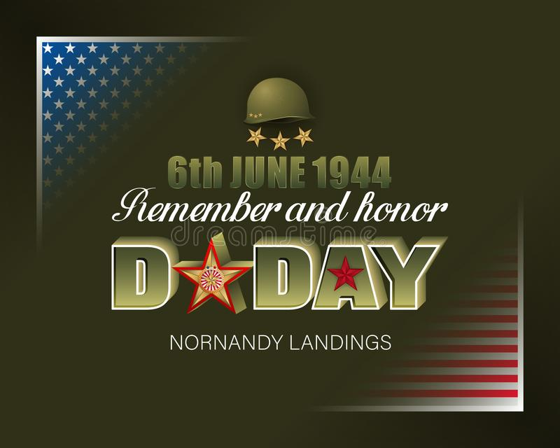 American D-Day, Normandy landings, celebration royalty free illustration