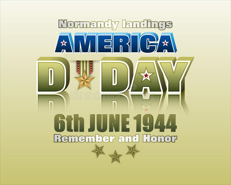 Allied forces, Normandy landings, D Day celebration vector illustration