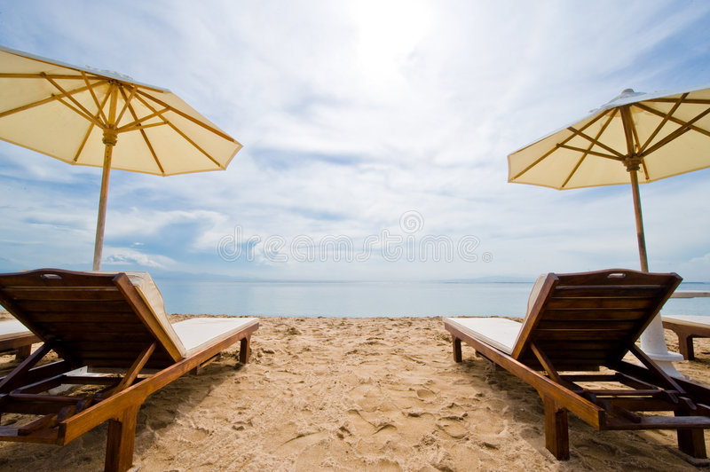 Holiday destination beach royalty free stock photography