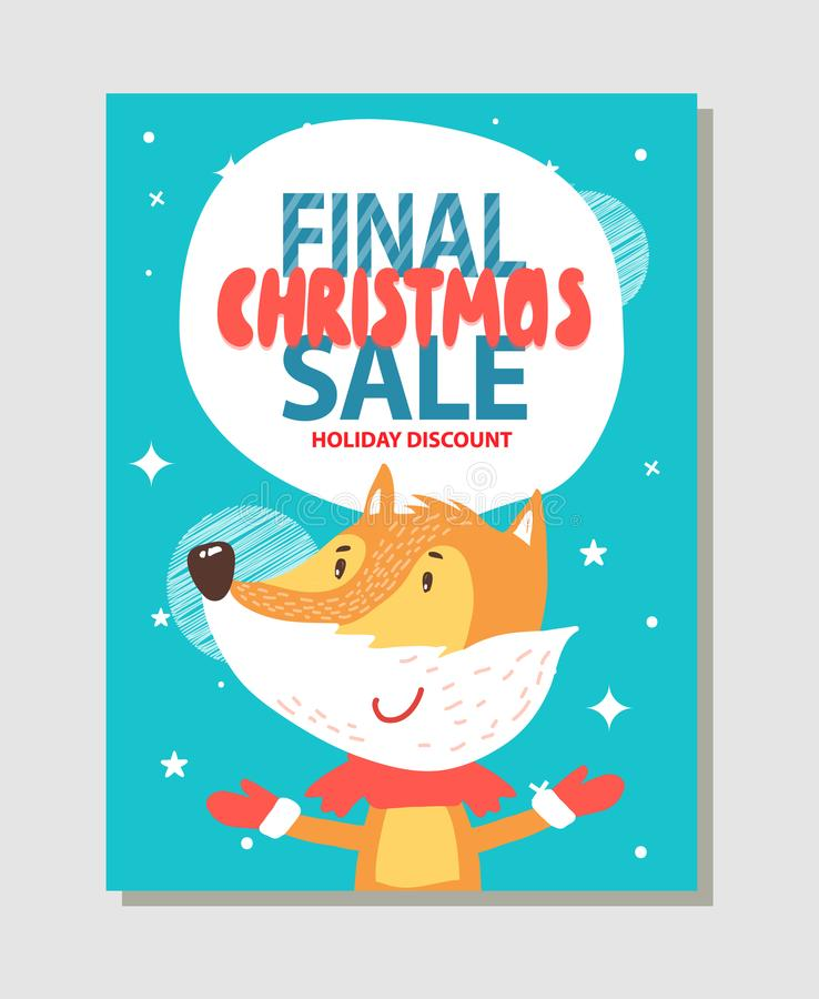 Holiday Discount Promo Poster Vector Illustration vector illustration