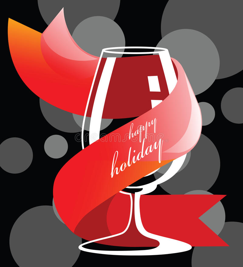 Download Holiday drink glass stock illustration. Image of glass - 24767396