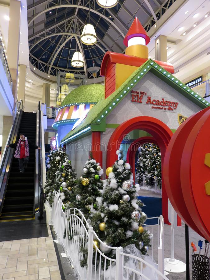 Holiday Elf Academy at a Shopping Mall in Virginia royalty free stock image