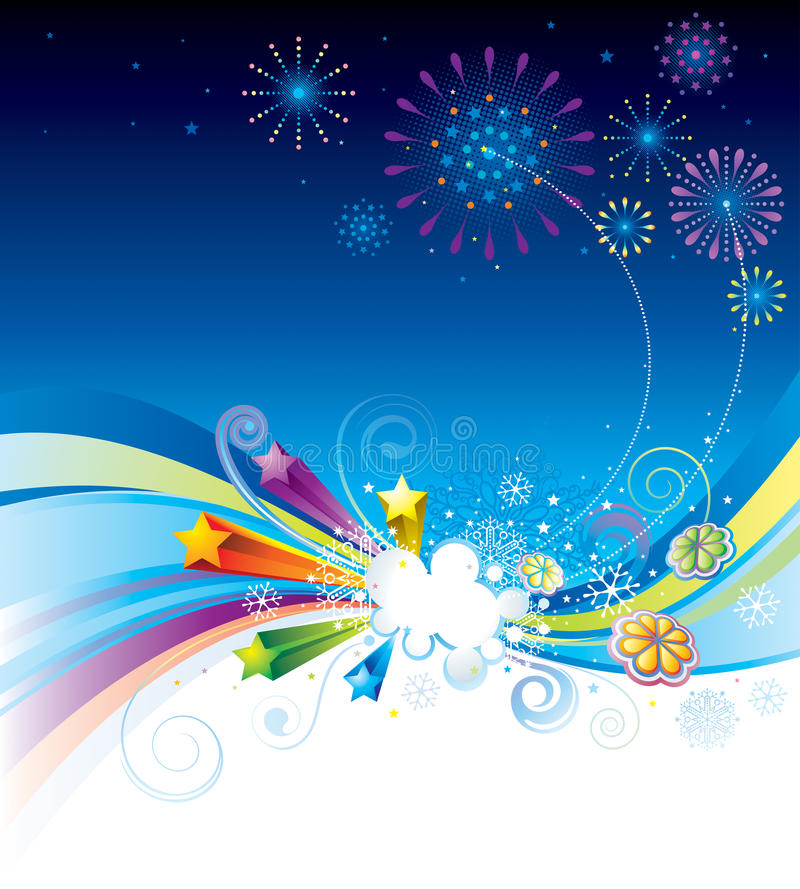 Download Holiday Eve stock vector. Illustration of night, firework - 16806044