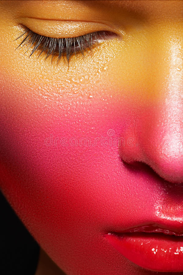 Download Holiday Face-art. Carnival Juicy Strawberry Makeup Stock Photography - Image: 25800252