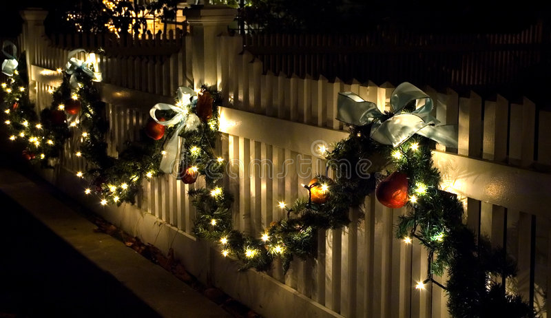 Download Holiday Fence Decorations Stock Photo - Image: 1712800