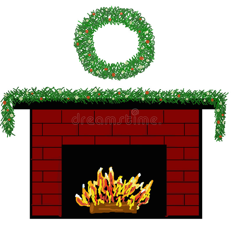 Download Holiday Fireplace stock illustration. Image of illustration - 1713589