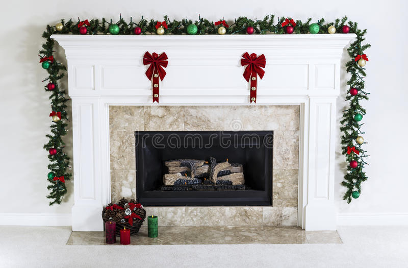 Holiday Fireplace stock photography