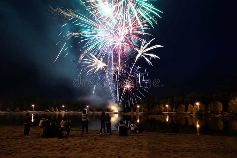 Download Holiday Fireworks editorial photography. Image of celebration - 14275372
