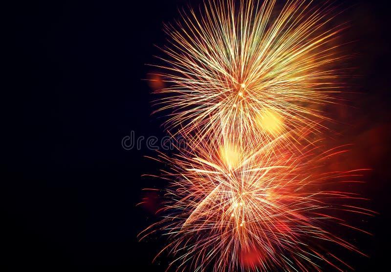 Holiday fireworks royalty free stock photo