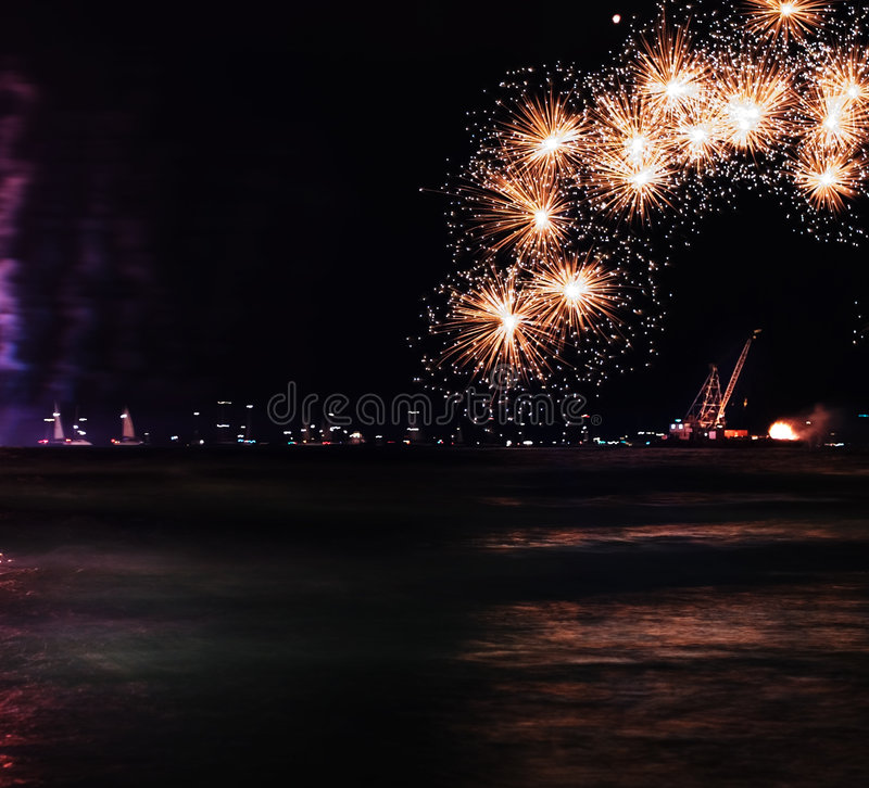 Free Holiday Fireworks Royalty Free Stock Photography - 797127