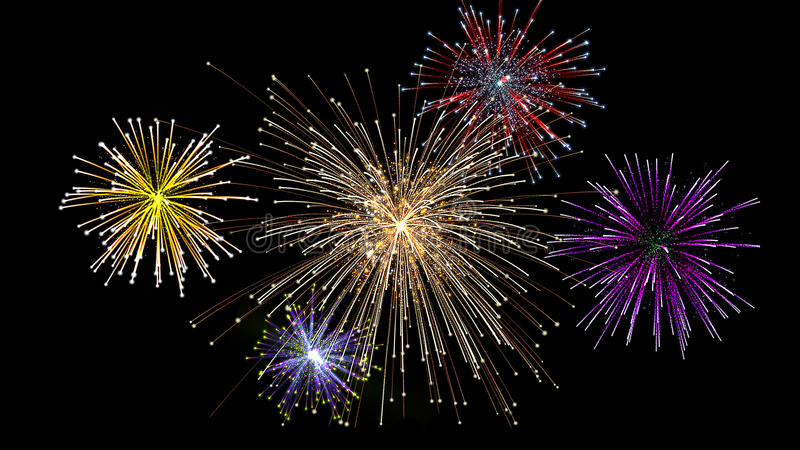 Holiday fireworks stock photography