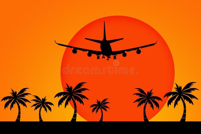 Download Holiday flight stock illustration. Image of away, evening - 15712310