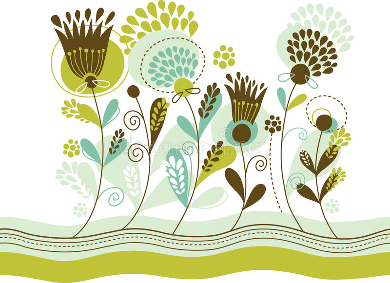 Holiday floral background. With flourishes elements vector illustration