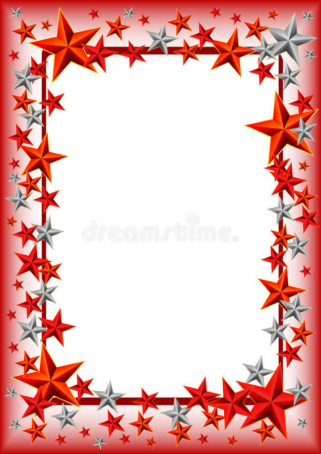 Free Holiday Frame With Stars On Defender Of The Fatherland Day. February 23 Royalty Free Stock Image - 49826396