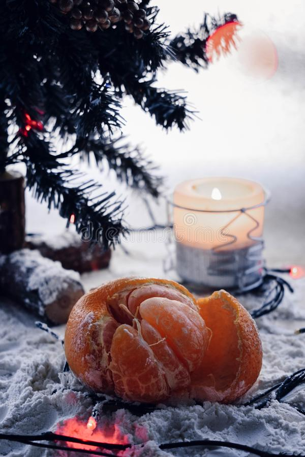 New year mandarin stock photo