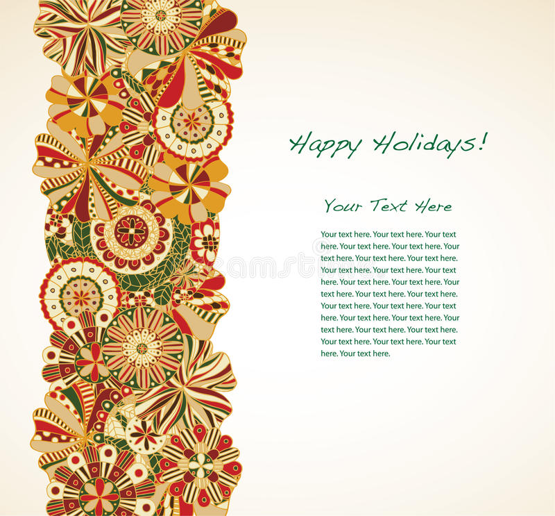 Download Holiday Garland stock vector. Image of sign, swirls, green - 16990893