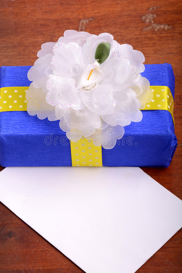 Holiday gift box with bow. Holiday concept royalty free stock photos