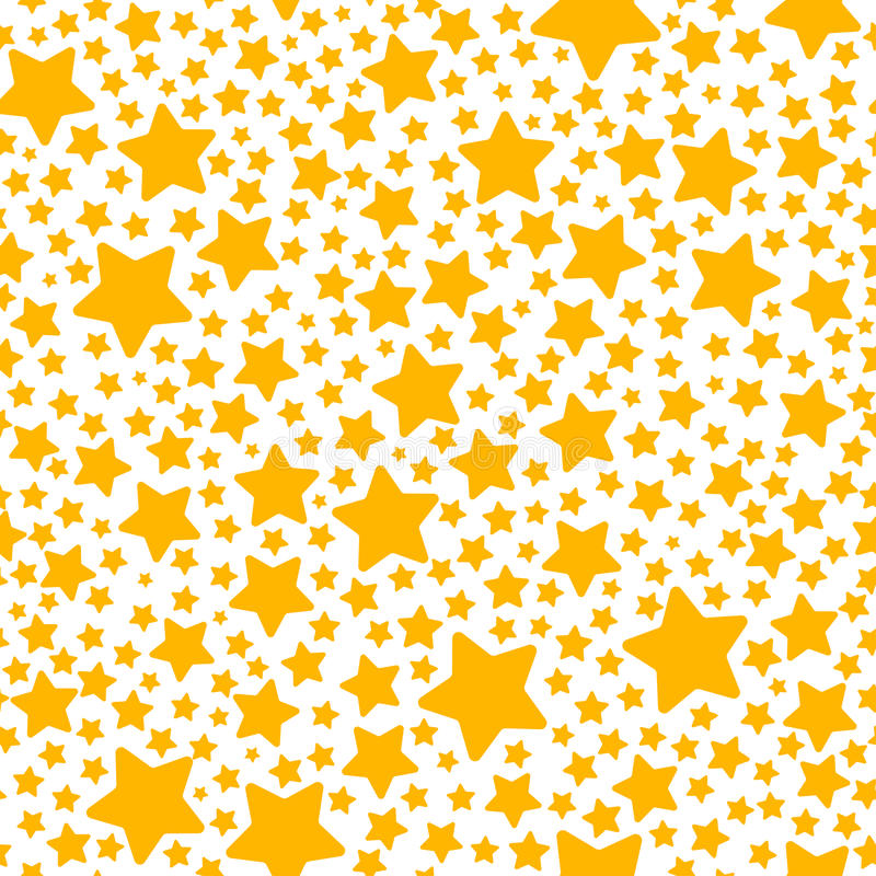 Holiday gift seamless pattern with yellow star stock illustration