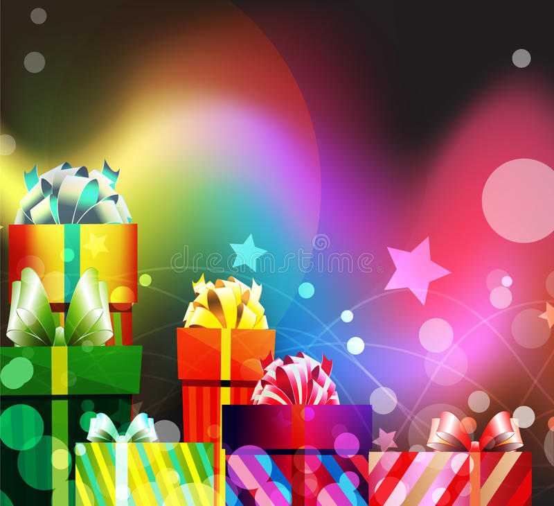 Holiday Gifts royalty free illustration