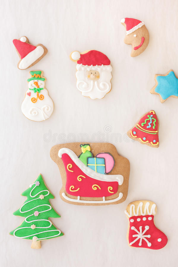 Holiday gingerbread cookies royalty free stock photos