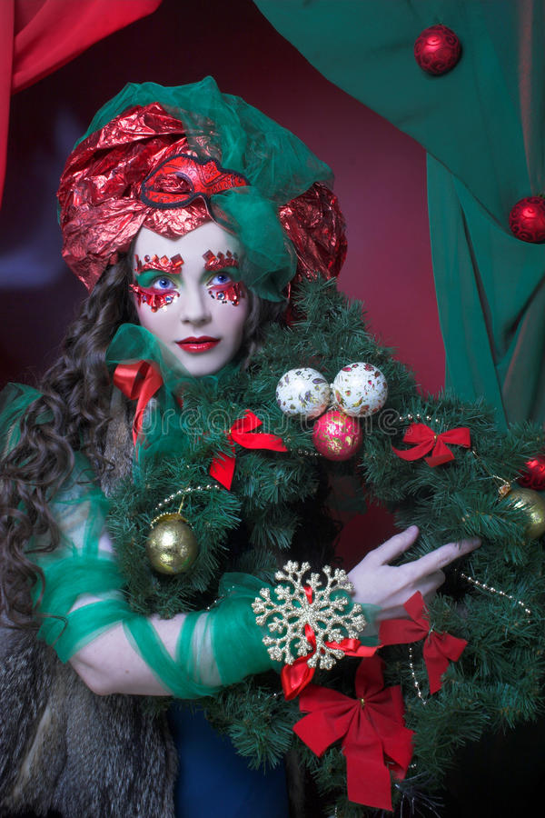 Download Holiday girl. stock image. Image of happy, fairy, mask - 39878961