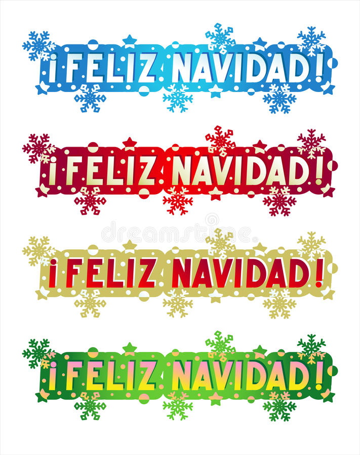 Holiday Greeting - Merry Christmas! - In Spanish Stock Vector ...