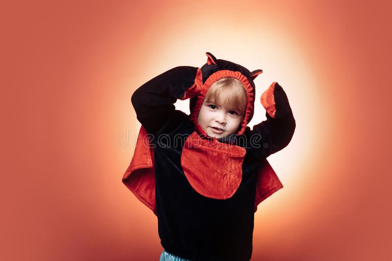 Holiday halloween with funny carnival costumes on red background. Happy Halloween on the World. Horror faces. Happy. Halloween. Happy Halloween Quotes for royalty free stock images