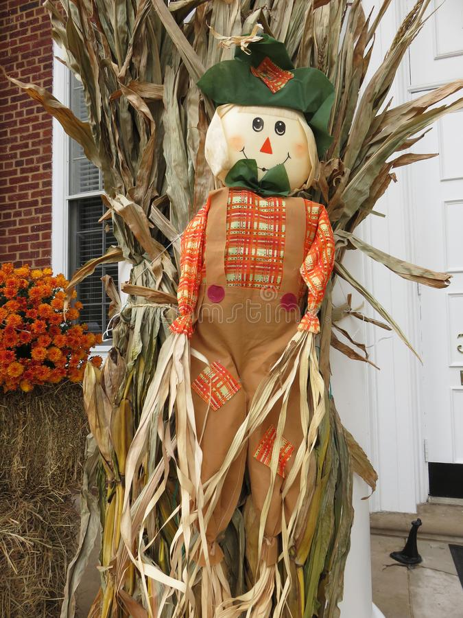Holiday Halloween Scarecrow in October stock photo
