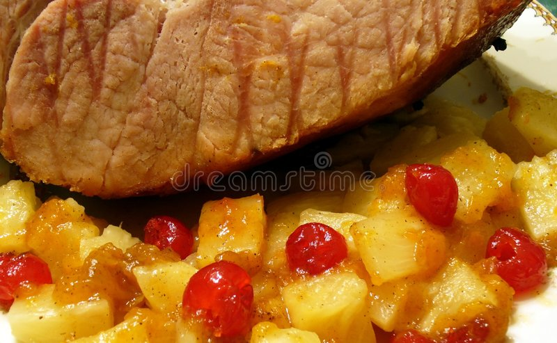 Download Holiday Ham stock photo. Image of plate, holiday, hungry - 462044