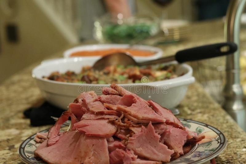 Holiday Ham On Buffet Table Free Public Domain Cc0 Image