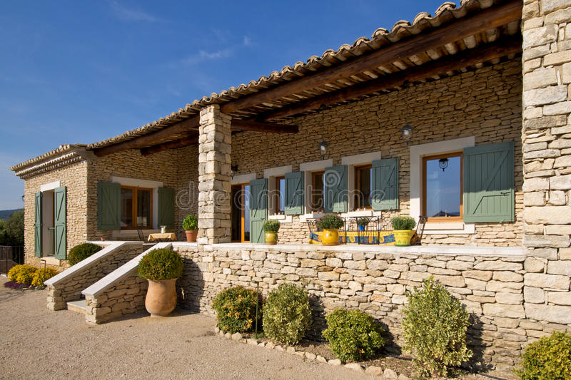 Holiday Home in the Sun. Provencal holiday home in the sunshine stock photography