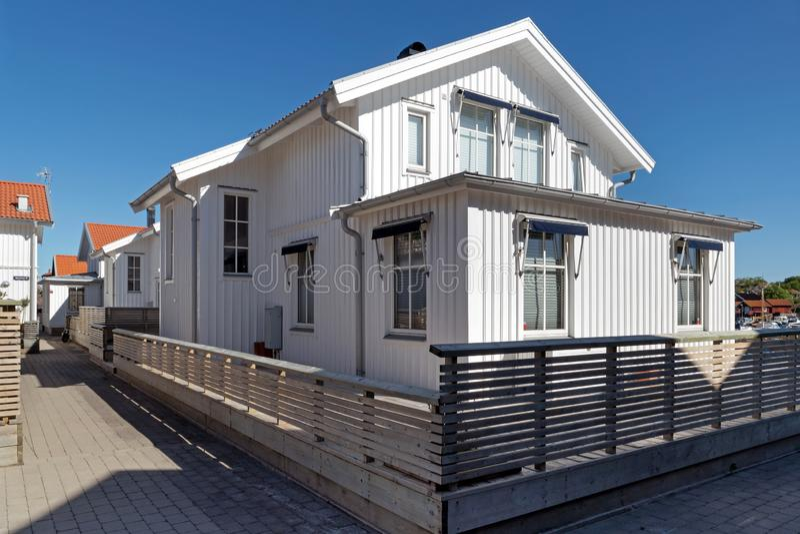 Holiday homes in Malmön's harbor 4 stock photography