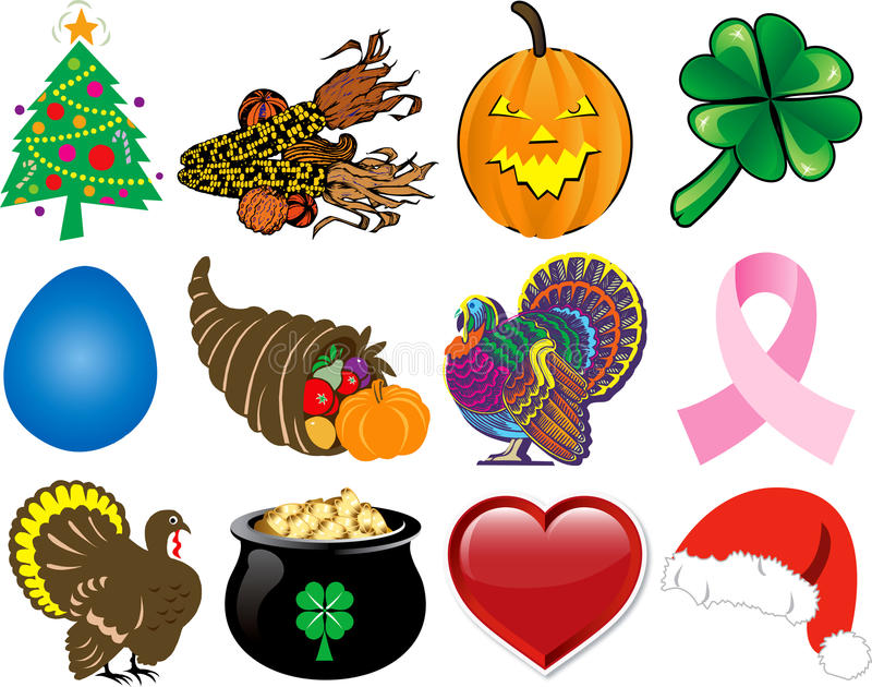 Download Holiday Icon Set 2 stock vector. Illustration of collection - 16709157