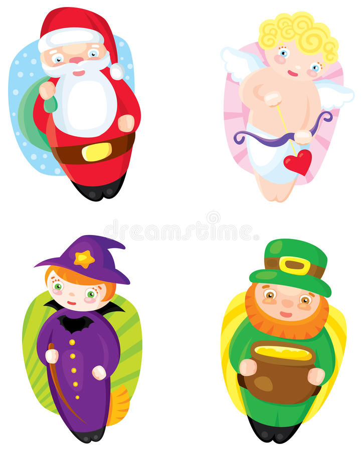 Download Holiday icons stock vector. Image of cartoon, green, vector - 28717195