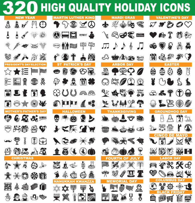 Holiday Icons vector illustration