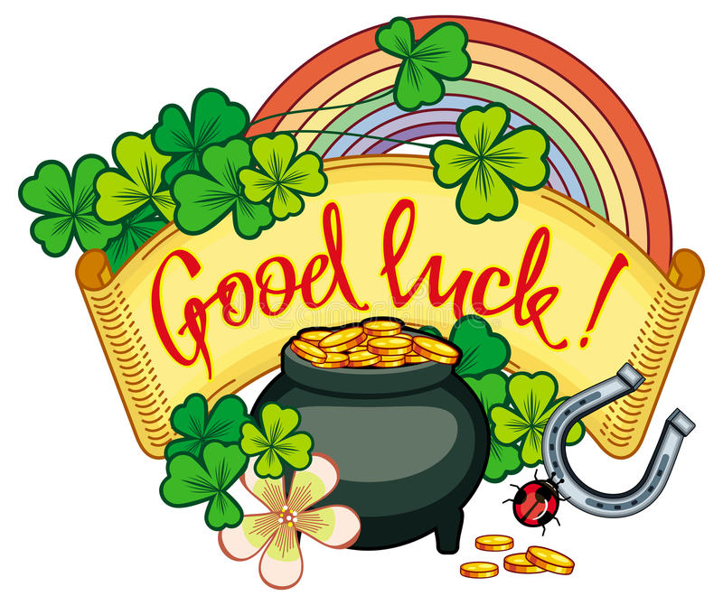 holiday label with shamrock rainbow and leprechaun pot of gold rh dreamstime com clipart pot of gold clipart leprechaun pot of gold