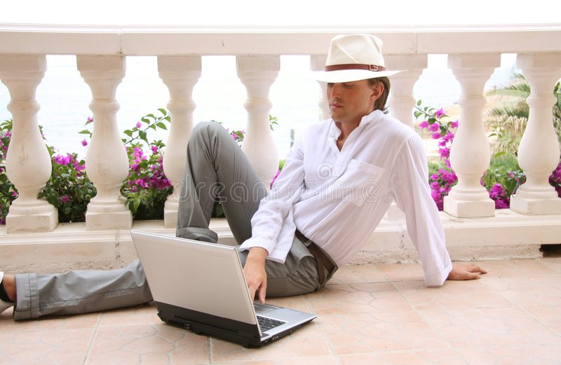 Download Holiday With Laptop Stock Photography - Image: 6101072