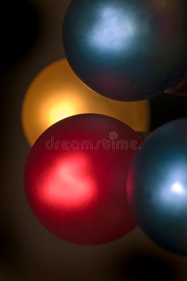 Holiday Lights against Black royalty free stock image